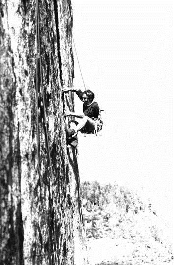 Yvon Chouinard Climbing