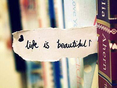 Life is beautiful books
