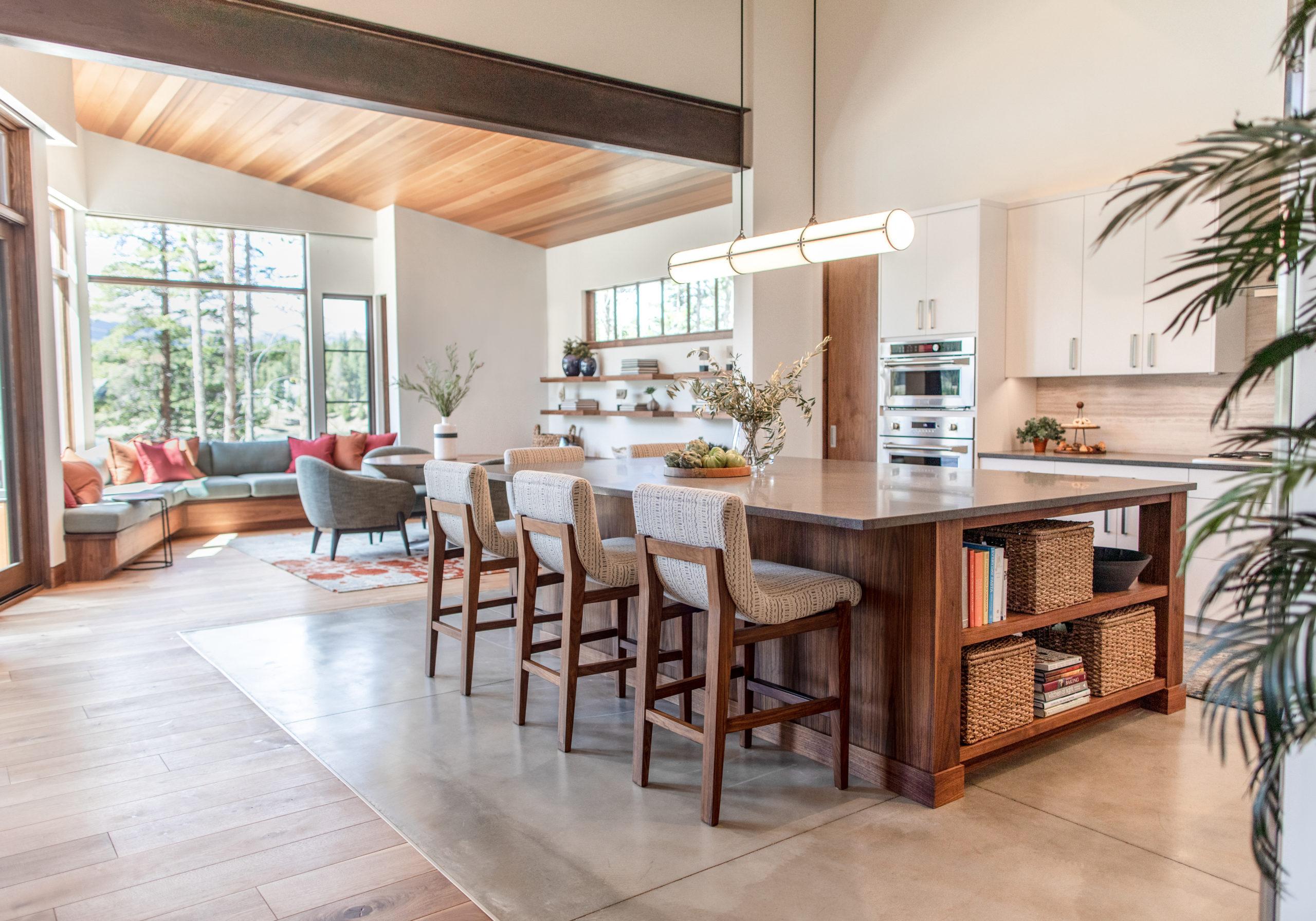 Open floor plan kitchen & family