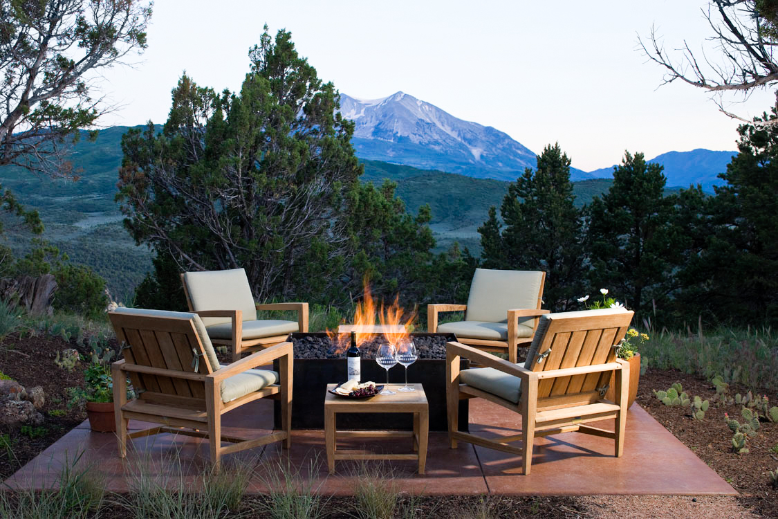 Outdoor Fire Pit with view of Mt Sopris